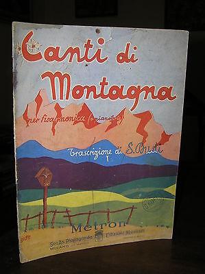 FM670_CANTI DI MONTAGNA per fisarmonica (o pianoforte) - Ed. Metron 1944