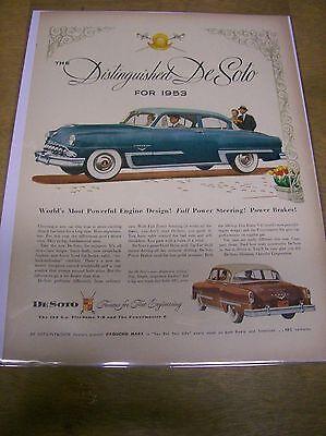 Original 1953 DeSoto Magazine Ad - Distinguished