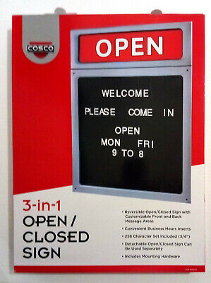 Cosco 3-in-1 Openclosed Sign Letterboard Reversible 20 H X 15 W