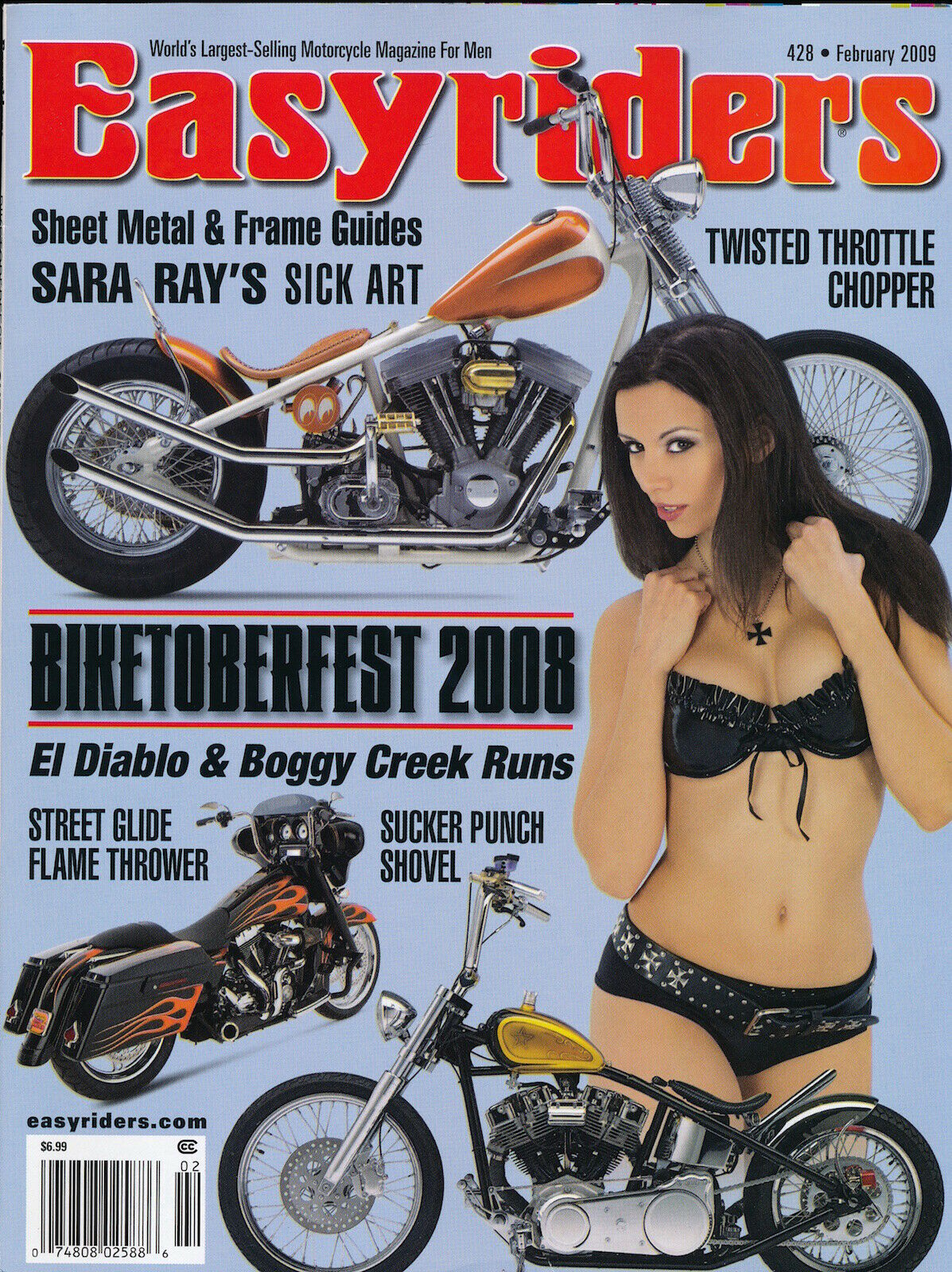 EASYRIDERS February 2009 SARA RAY Biketoberfest BOGGY CREEK Motorcycles 127009 - $2.00