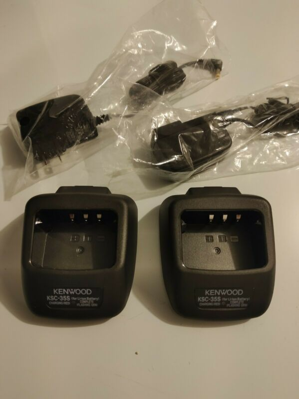 2x KENWOOD KSC-35S RAPID CHARGER & POWER SUPPLY - Open Box