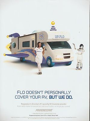 Flo   Rv  Uf Flo  Progressive Insurance Advertisement   2016 Magazine Print Ad