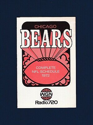 Schedules - Chicago Bears Schedule - 3 - Trainers4Me