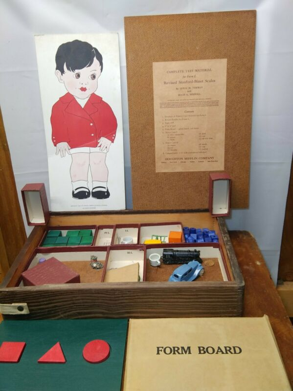 Vintage Stanford-Binet Intelligence Scale Kit With Original Case 50s 60s?