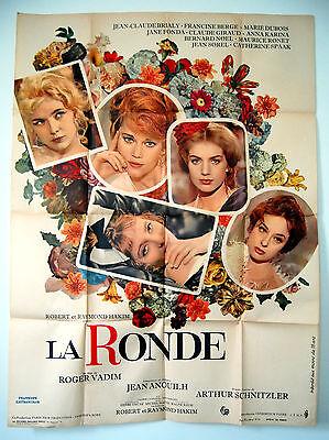 JANE FONDA – LA RONDE – CIRCLE OF LOVE – '64 ORIGINAL FRENCH GRANDE MOVIE POSTER