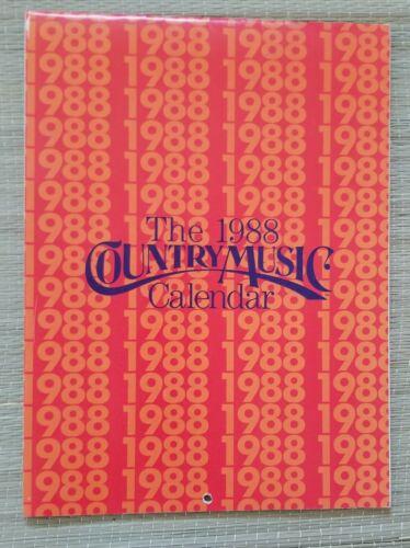 1988 Country Music Calendar: Randy Travis Reba McEntire Hank Williams Jr, Merle