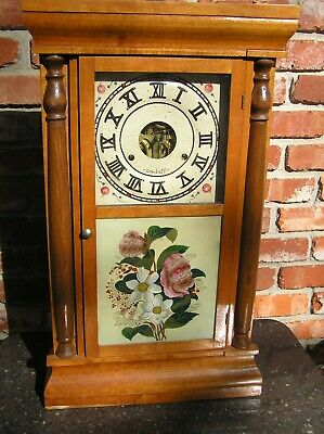 3pt8 ANTIQUE SETH THOMAS WEIGHT DRIVEN PENDULUM TIME STRIKE MANTLE WALL CLOCK