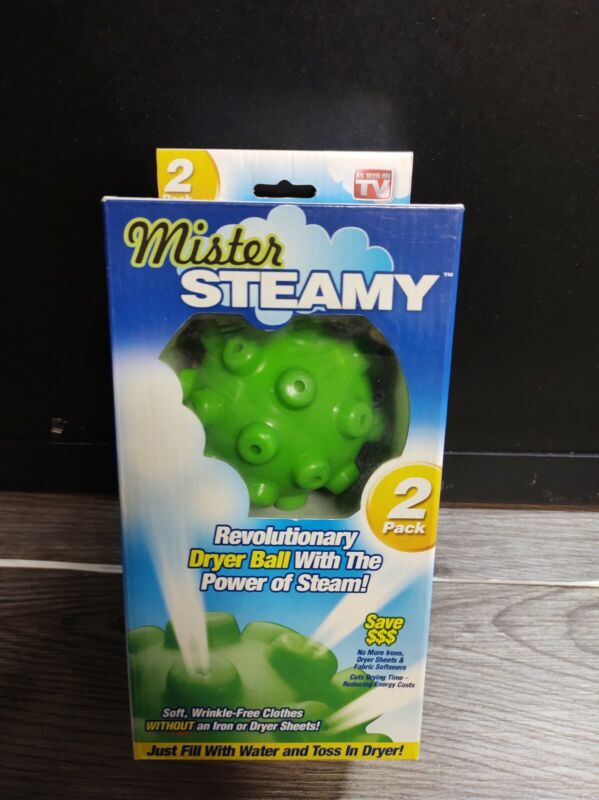 New Mister Steamy Dryer Balls 2 Pack  (As Seen On TV) *2010*