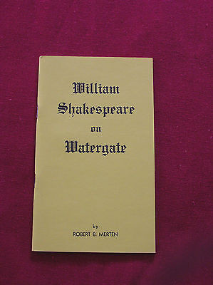 Brief play portraying Watergate drama in words exclusively of  W. Shakespeare