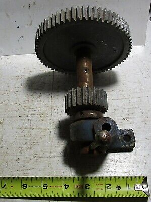 Vintage Metal Lathe Back Gear Assembly