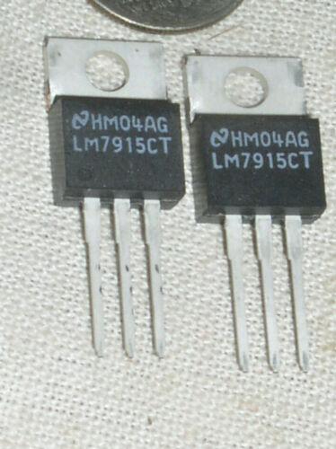 2 NATIONAL LM7915CT -15V V VOLT 1.5 A AMP NEGATIVE VOLTAGE REGULATOR TO-220 USA