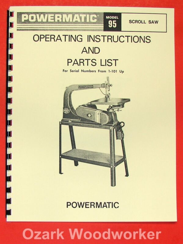 POWERMATIC 95 Scroll Saw Parts Operator