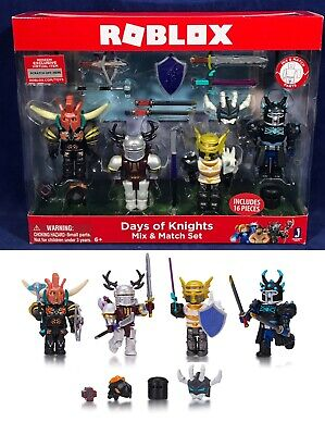 Mix Match Day (New ROBLOX DAYS OF KNIGHTS - Mix & Match Set - 4-Pack Figures Accessories)