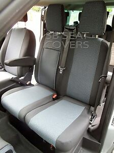 TO FIT A FORD TRANSIT CUSTOM VAN SEAT COVERS 2016 GREY