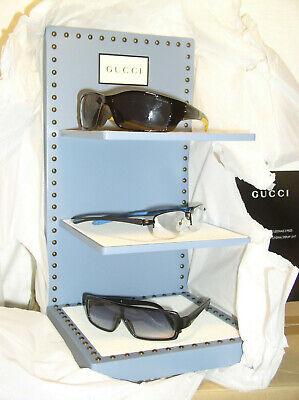 New In Box Gucci Eye Glass Eyewear Store Advertising 3 Tier Display Stand Shelf