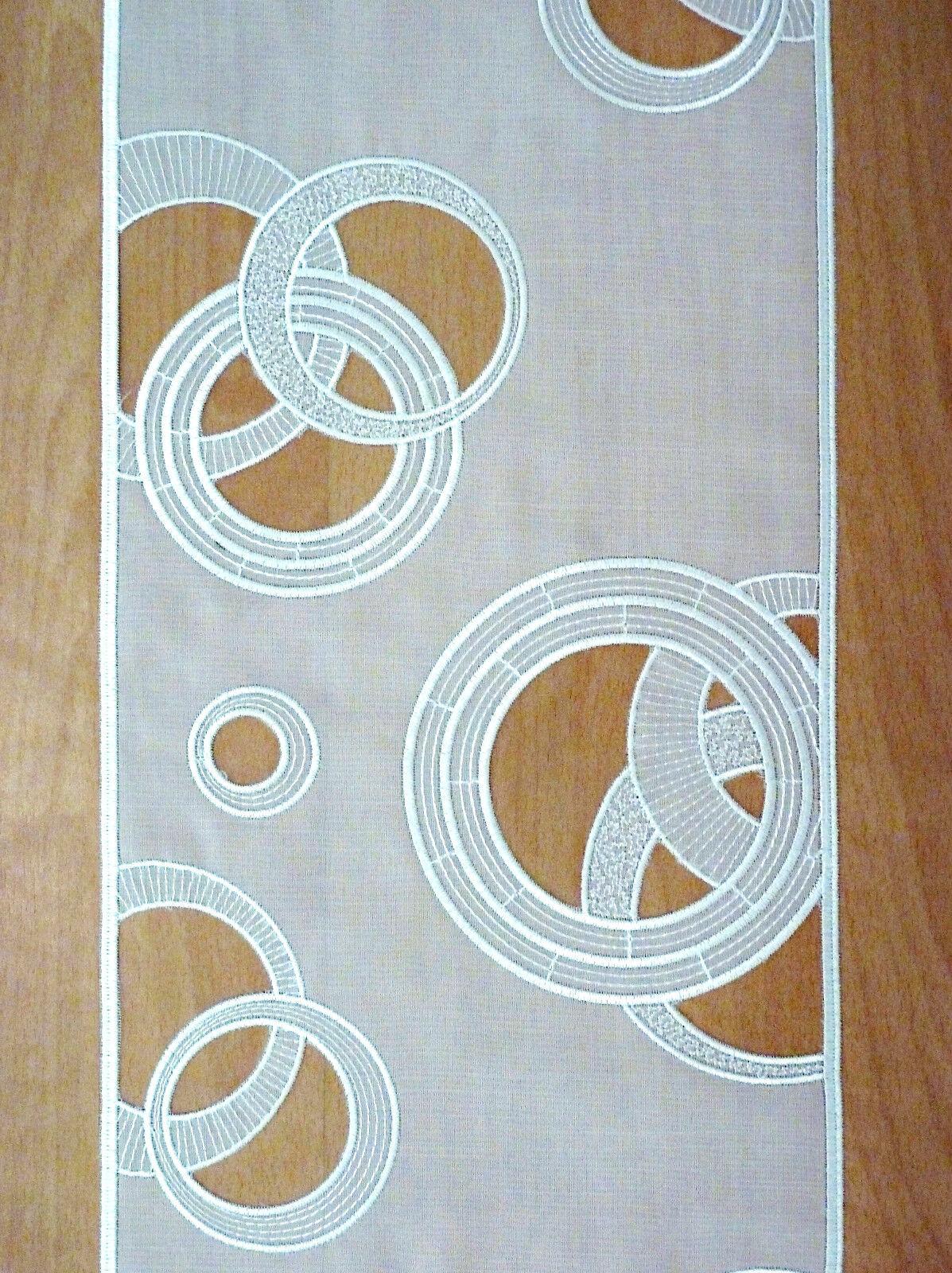 Fl chenvorhang schiebevorhang gardine paneel kreise ringe welle 40 cm 60 cm eur 46 00 - Gardine kreise ...