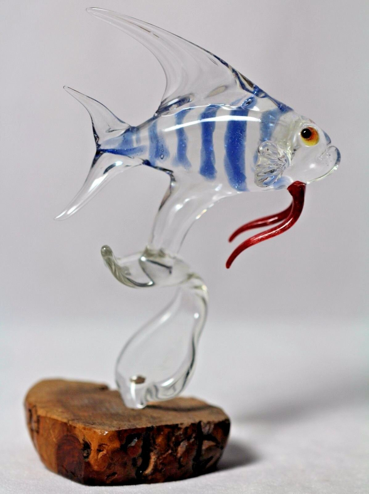 Awesome hand blown art glass fish signed louid 91 paperweight for Blown glass fish