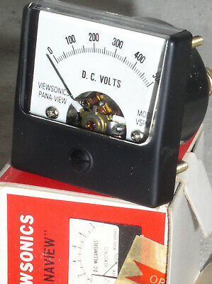 Viewsonics Pana-view Vspv1.5 Mini 500 V Dc Volt Analog Panel Meter Voltmeter Usa