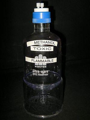 Kontes Ultra-ware 1000ml Plastic-coated Glass Conical Bottom Hplc Reservoir