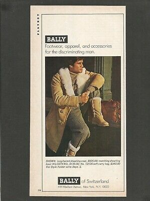 BALLY Footwear, apparel, and accessories for man - 1978 Vintage Print Ad Apparel Footwear Accessories