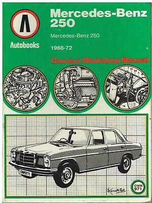 W114 W115 1968-1972 MERCEDES BENZ WORKSHOP MANUAL
