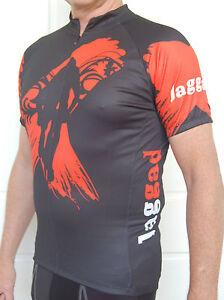 MTB-Jaggad-cycling-bike-Jersey-shirt-Mens-Womens-Black-red-size-S-M-L-XL