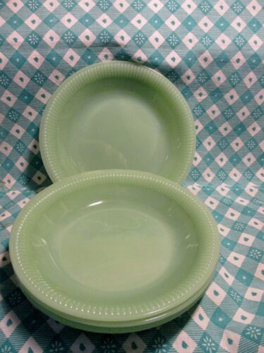 Vintage Fire King Jadeite Jane Ray Soup Dish x 4 in Excellent Condition
