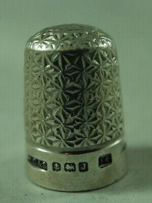 Antique Silver Thimble HG&S Birmingham 1933 Size 16 The Spa