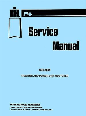 Farmall International Td-14 Td-18 T-20 T-35 Td-35 Tractor Clutch Service Manual