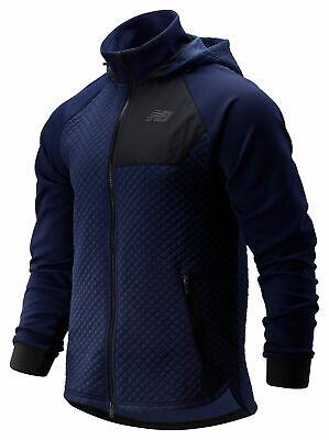 New Balance Men's NB Heat Loft Full Zip Hooded Jacket Navy