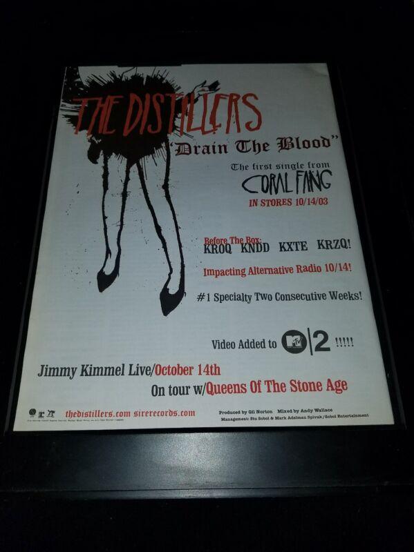 The Distillers Drain The Blood Rare Original Radio Promo Poster Ad Framed!
