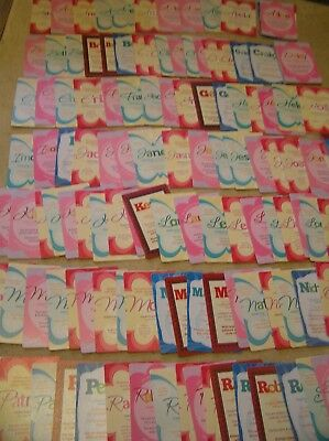 JOB LOT 119 NEW EVERLASTING POST A CARDS MALE FEMALE NAMES A-Z RESALE £1 +
