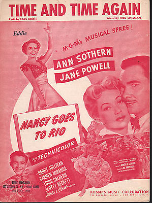 Time and Time Again 1949 Nancy Goes To Rio Jane Powell Sheet Music
