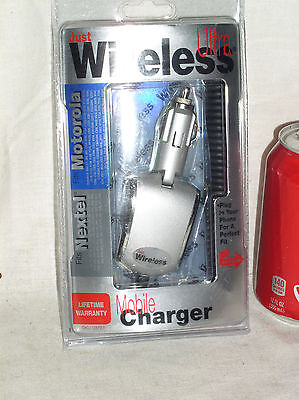 NEW JUST WIRELESS ULTRA CELL PHONE MOBILE CAR CHARGER FOR NEXTEL MOTOROLA 03223 Charger Motorola Wireless Phones