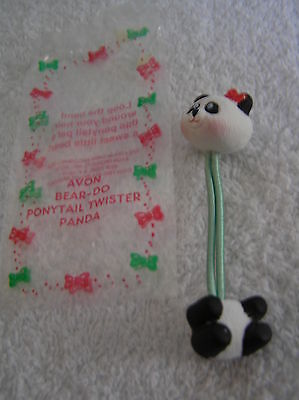 AVON FOR HAIR PANDA BEAR - DO PONYTAIL TWISTER COVERED PLASTIC NIP DISCONTINUED