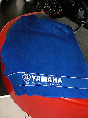 Geschenkidee! Großes original Yamaha Racing Handtuch Strandtuch blau NEU