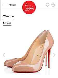 Christian Louboutin Dorissima 100 NUDE Patent 38.5 Northcote Darebin Area Preview