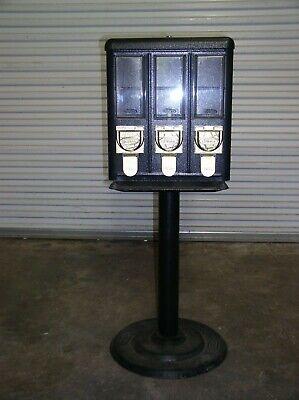 Black Triple Head Candy Gumball Vending Machine