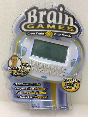 Radica Mattel Brain Games - Cross Train Your Brain, 5 Different Games ~Unopened~ ()