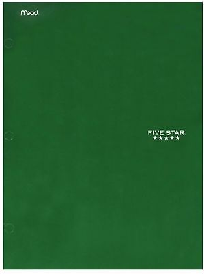 2 Pocket Folders Bulk (Mead Five Star 4 Pocket Paper Folder, Color May Vary 1 ea (Pack of)