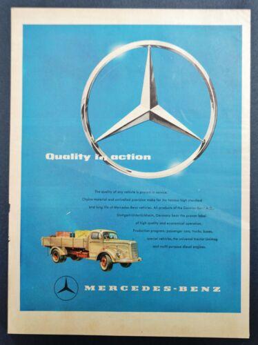 1961 1962 Mercedes Benz Truck Print Ad RARE Intl Ad Universal Tractor Unimog