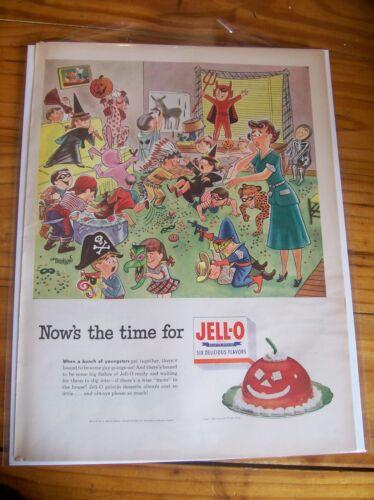 Original 1952 Jell-O Halloween Magazine  Ad