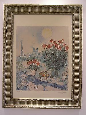 MARC CHAGALL - RARE Pencil hand signed & numbered Original Coloured lithograph