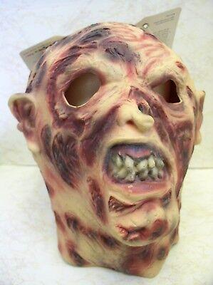 Narbe Gesicht Kostüme (Burn Gesicht Latex Maske Halloween Monster Erwachsene Narbe Scary Horror Kostüm)