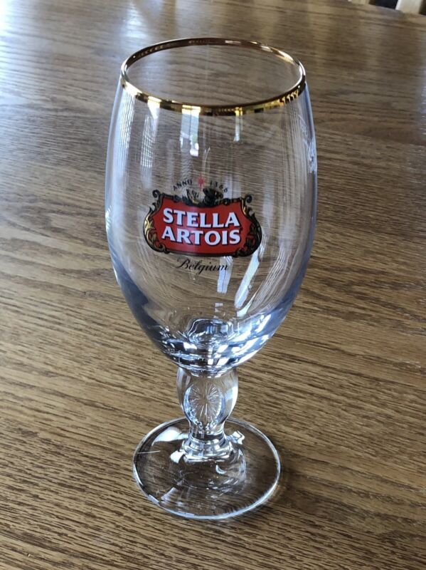 SET OF TWO STELLA ARTOIS BELGIUM BEER GLASSES 33cl ( New ) FREE SHIPPING