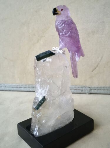 "Amethyst Falcon on Tourmaline in Quartz Base 6""        Peter Muller"