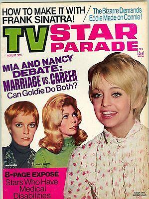 Goldie Hawn Nancy Sinatra  Mia Farrow Cover Tv Star Parade Magazine 1969