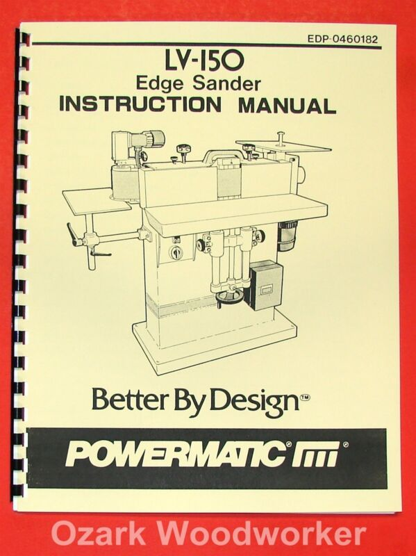 POWERMATIC LV-150 Edge Sander Parts Manual 0543