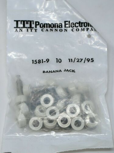 Bag of 10 - Pomona 1581-9 White Panel Mount Banana Jacks