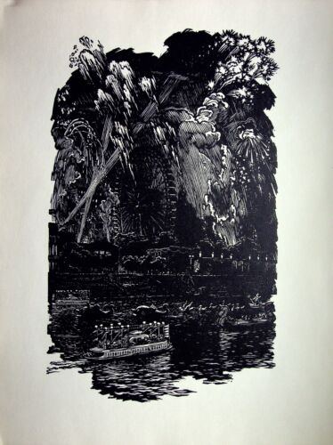 N.I.Kalita - Fire of The Peace - Photolithography - 1959